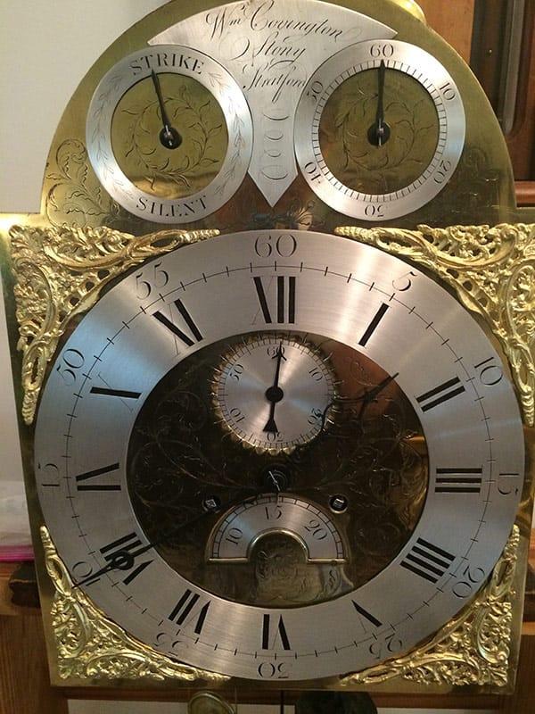 Restored Antique clock dial