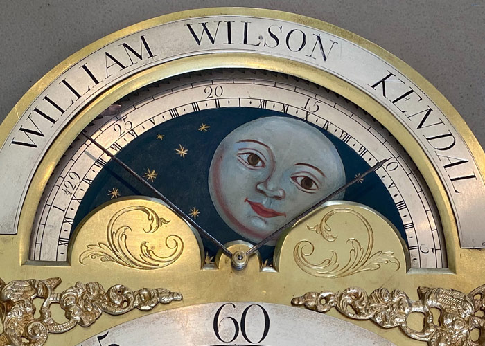 William Wilson Kendal Restored Antique Metal Clock Dial