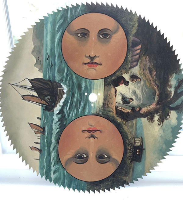Gypsy Moon antique moon clock dial