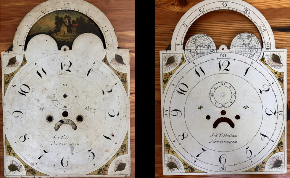 JT Hallum painted dial before and after