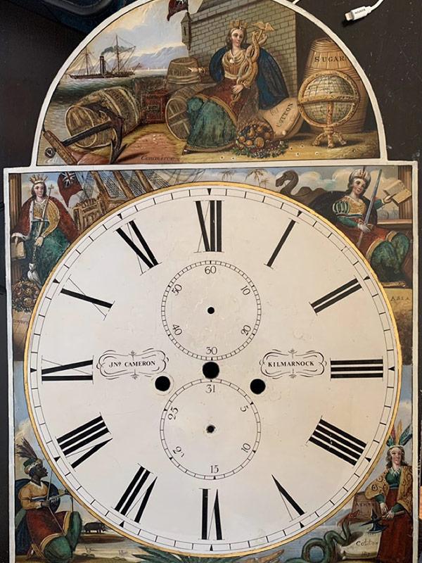John Cameron antique painted clock dial