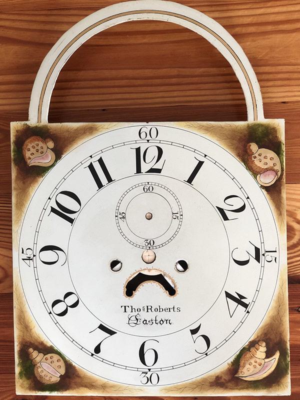 Thomas Roberts Shipclock antique painted clock dial