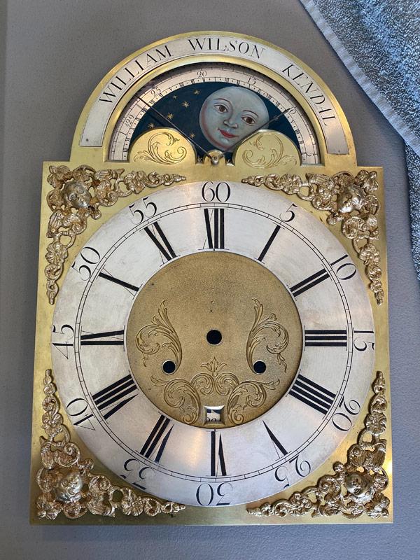 William Wilson Kendal restored antique metal clock dial
